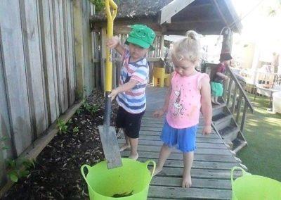 digging the garden